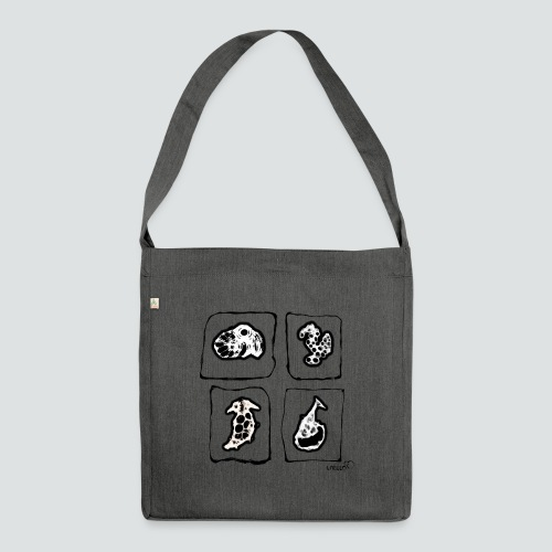 Tiere png - Schultertasche aus Recycling-Material