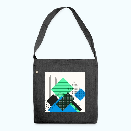 Abstract rectangles pastel - Shoulder Bag made from recycled material