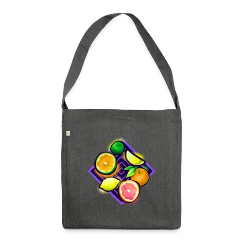 Citrus Pop Art - Schultertasche aus Recycling-Material