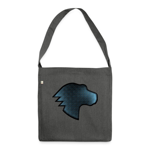 MDN Blue Gradient Dino - Shoulder Bag made from recycled material