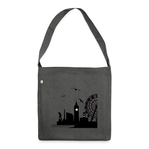 Silhouette of Margate - Shoulder Bag made from recycled material