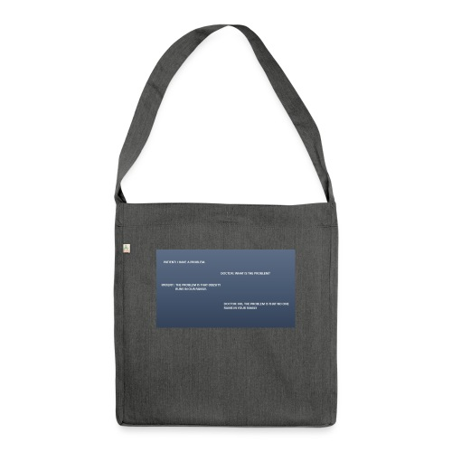 Running joke t-shirt - Shoulder Bag made from recycled material