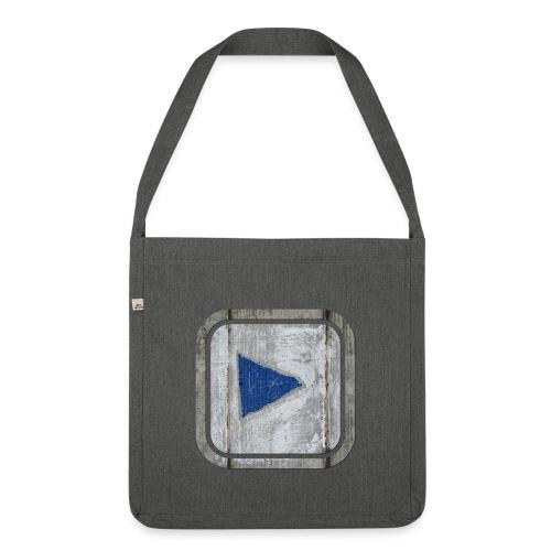 hier entlang ! - Schultertasche aus Recycling-Material