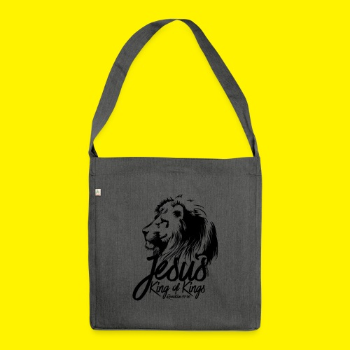 JESUS - KING OF KINGS - Revelations 19:16 - LION - Shoulder Bag made from recycled material