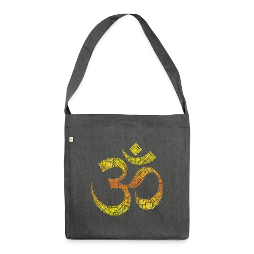 Ohm Psytrance - Schultertasche aus Recycling-Material