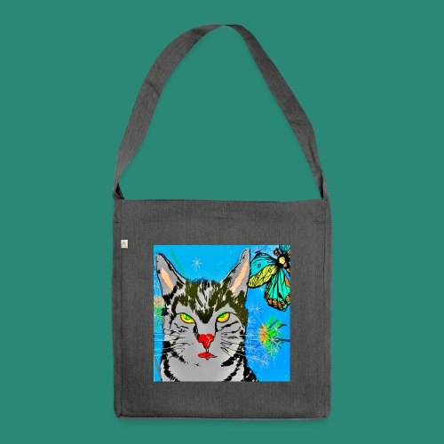 Kater Ritchie, der Held - Schultertasche aus Recycling-Material