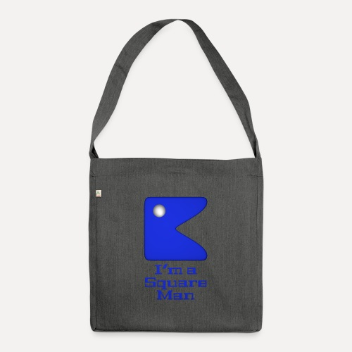 Square man blue - Shoulder Bag made from recycled material