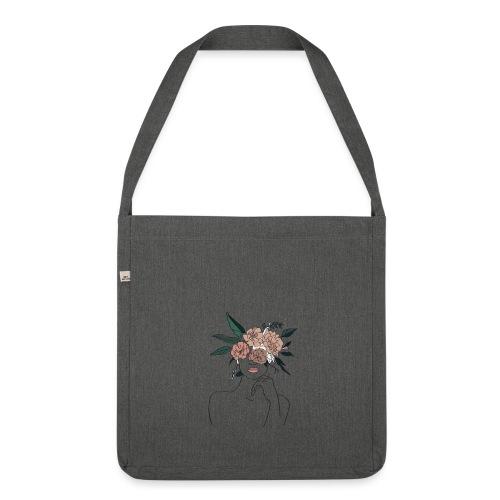 Femme fleur - Sac bandoulière 100 % recyclé