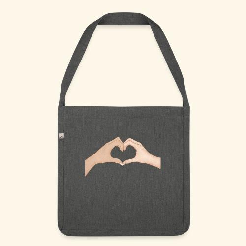 Mains Coeur Amour - Love hands - Sac bandoulière 100 % recyclé