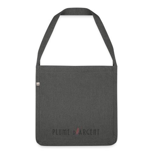 Logo - Texte noir - Sac bandoulière 100 % recyclé