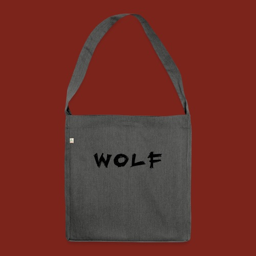 Wolf Font png - Schoudertas van gerecycled materiaal