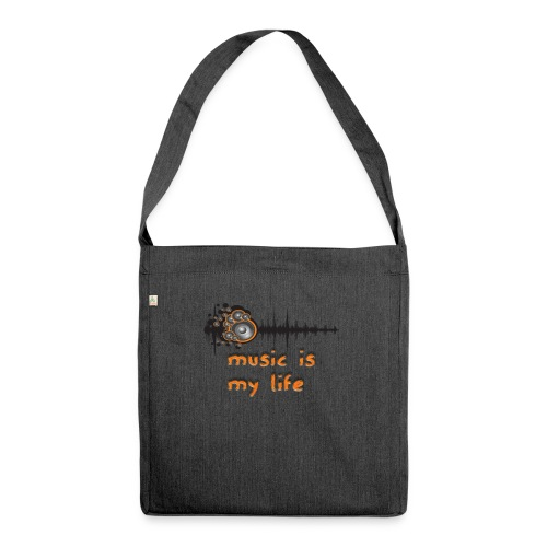 Music is my Life - Borsa in materiale riciclato