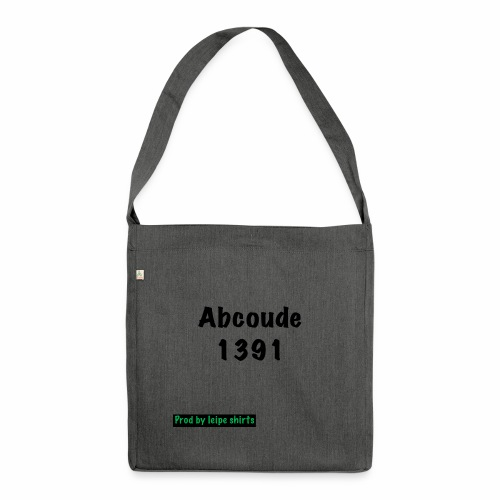 Abcoude post code merk - Schoudertas van gerecycled materiaal