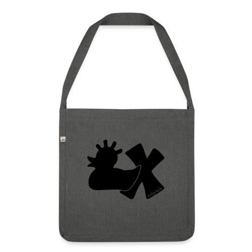 PunkEnte mit X v3.3 - Schultertasche aus Recycling-Material