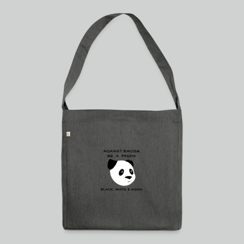 Against Racism Panda - Schultertasche aus Recycling-Material