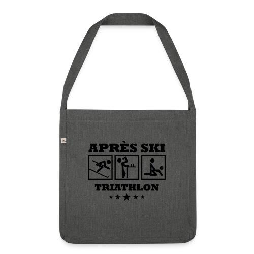 Apres Ski Triathlon | Apreski-Shirts gestalten - Schultertasche aus Recycling-Material