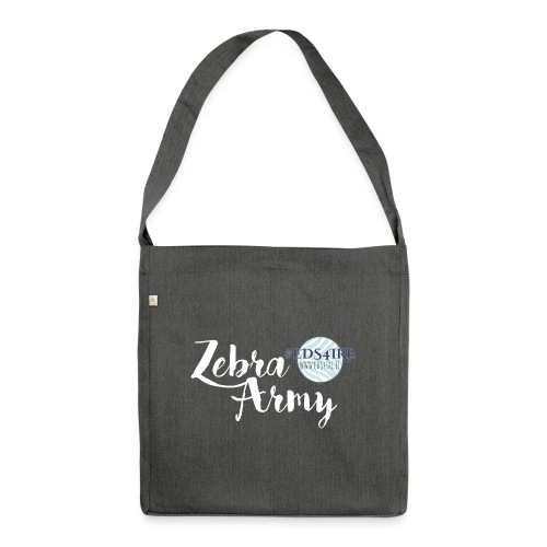 Zebra Army (white) - Shoulder Bag made from recycled material