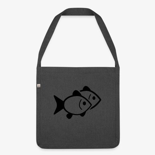 poissons - Sac bandoulière 100 % recyclé