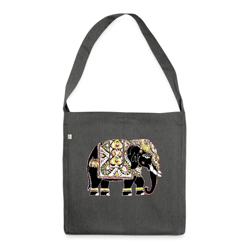 Indian elephant for luck - Shoulder Bag made from recycled material