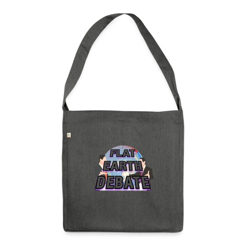 Flat Earth Debate - Shoulder Bag made from recycled material