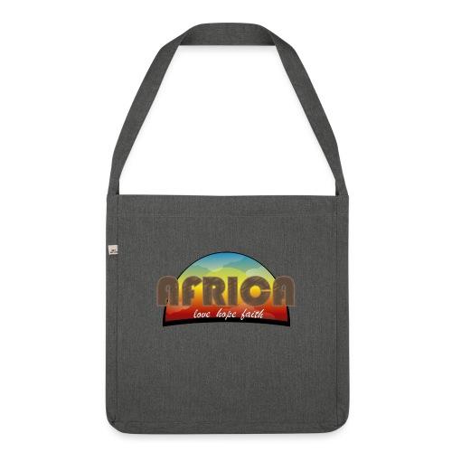 Africa_love_hope_and_faith2 - Borsa in materiale riciclato