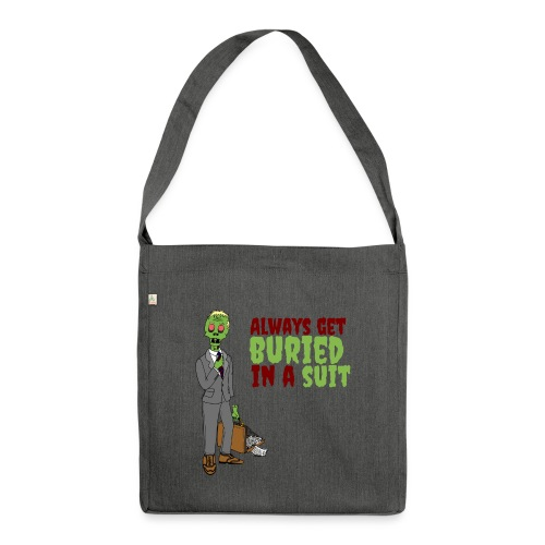 Buried in Suit - Shoulder Bag made from recycled material