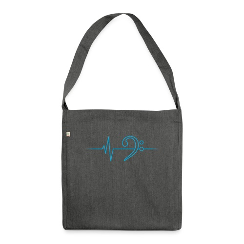 LowHeartBeat cyan - Schultertasche aus Recycling-Material