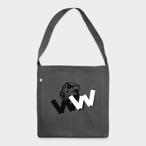 White and Black W with eagle - Shoulder Bag made from recycled material
