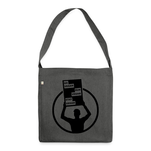 Go Run Stay Vegan - Shoulder Bag made from recycled material