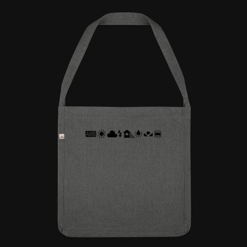 Weissabgleich Symbole Horizontal - Schultertasche aus Recycling-Material