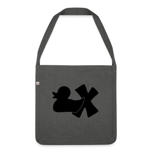 Ente mit X v3 3 klein - Schultertasche aus Recycling-Material