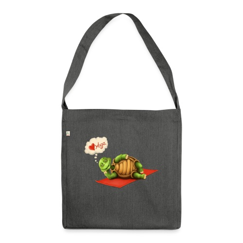 Love-Yoga Turtle - Schultertasche aus Recycling-Material