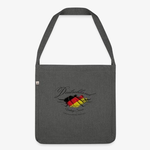 Vintage Deutschland - Schultertasche aus Recycling-Material