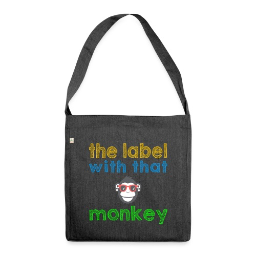 the label with that monkey - Schultertasche aus Recycling-Material