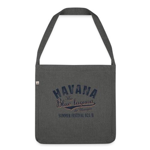 Havana_Blue Laguna - Schultertasche aus Recycling-Material