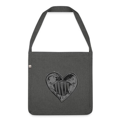 Corazón Negro - Bandolera de material reciclado