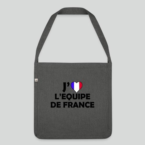 J'aime L'équipe De France (N) - Sac bandoulière 100 % recyclé