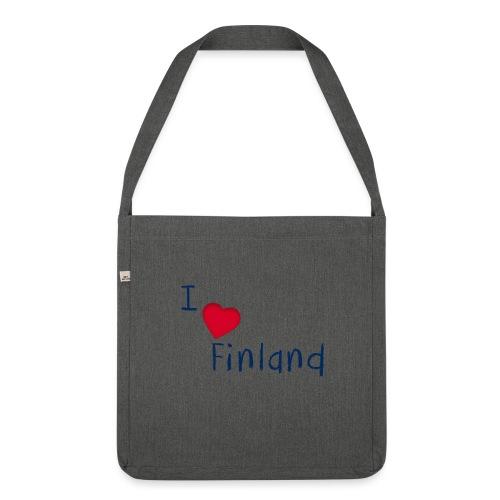 I Love Finland - Olkalaukku kierrätysmateriaalista
