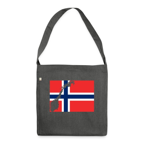 Norges Flagg - Schultertasche aus Recycling-Material