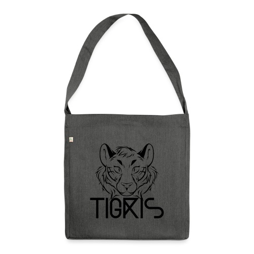 Tigris Logo Picture Text Black - Shoulder Bag made from recycled material