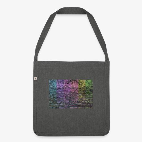Regenbogenwand - Schultertasche aus Recycling-Material