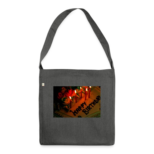 happy Birthday - Shoulder Bag made from recycled material