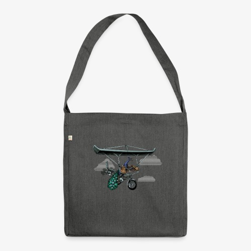 Flight of the Peacock - Shoulder Bag made from recycled material