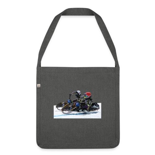 Paarfahren Max und Tobi - Schultertasche aus Recycling-Material