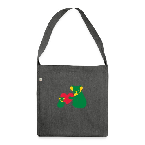 Koala Heart Baby - Shoulder Bag made from recycled material