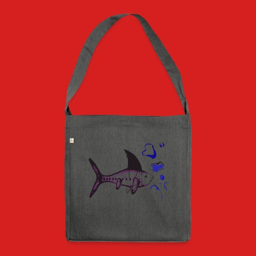 Hai-Fisch - Schultertasche aus Recycling-Material