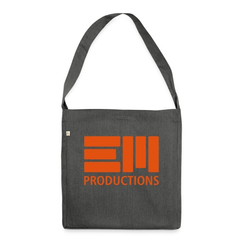 EM Productions Logo 2016 - Schultertasche aus Recycling-Material
