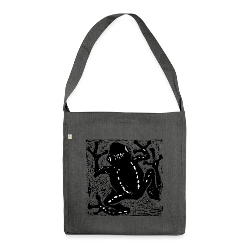 Museum Tree Frog - Shoulder Bag made from recycled material