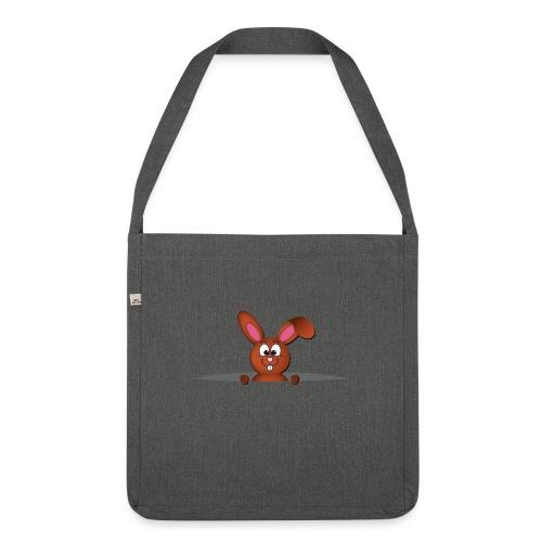 Cute bunny in the pocket - Borsa in materiale riciclato