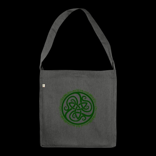 Green Celtic Triknot - Shoulder Bag made from recycled material